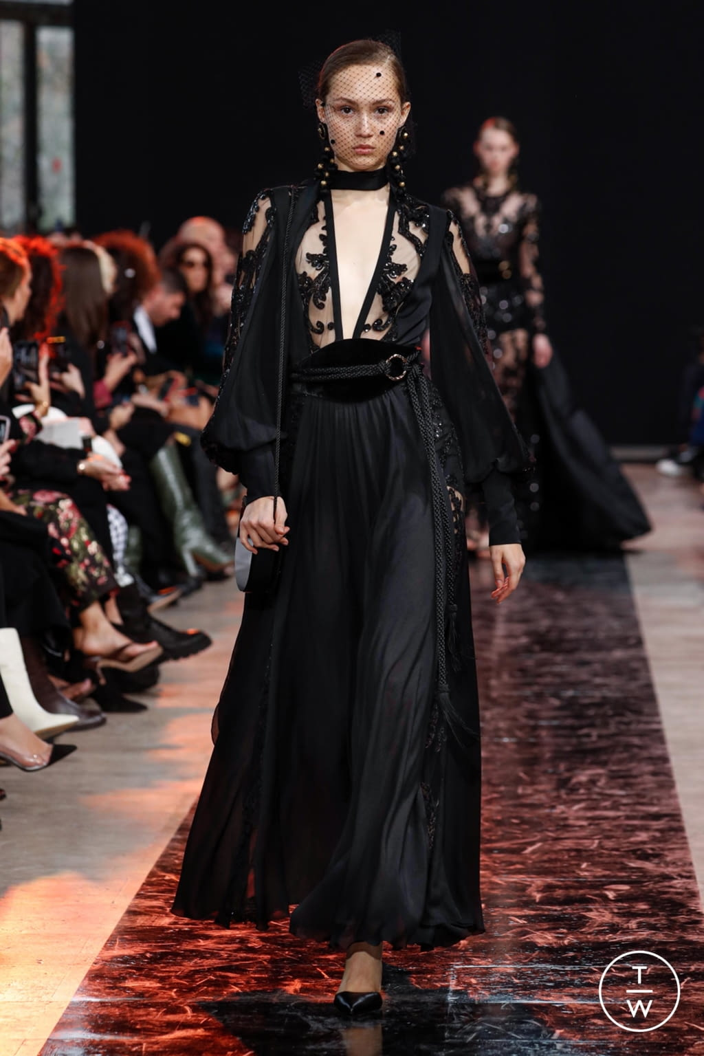 Fashion Week Paris Fall/Winter 2020 look 42 from the Elie Saab collection womenswear