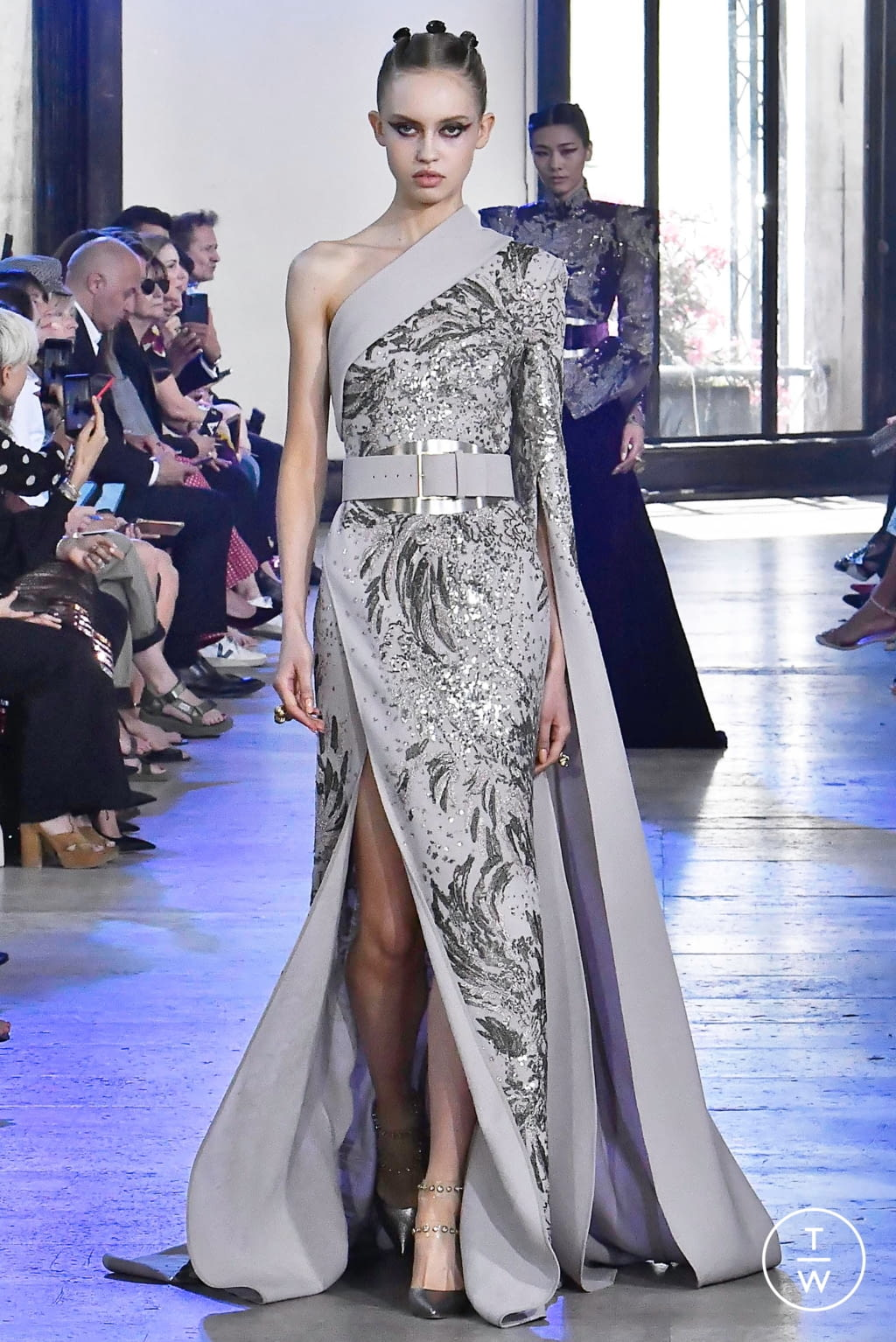 Fashion Week Paris Fall/Winter 2019 look 8 from the Elie Saab collection couture