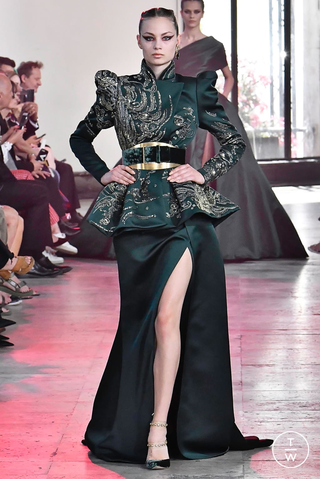 Fashion Week Paris Fall/Winter 2019 look 15 from the Elie Saab collection couture