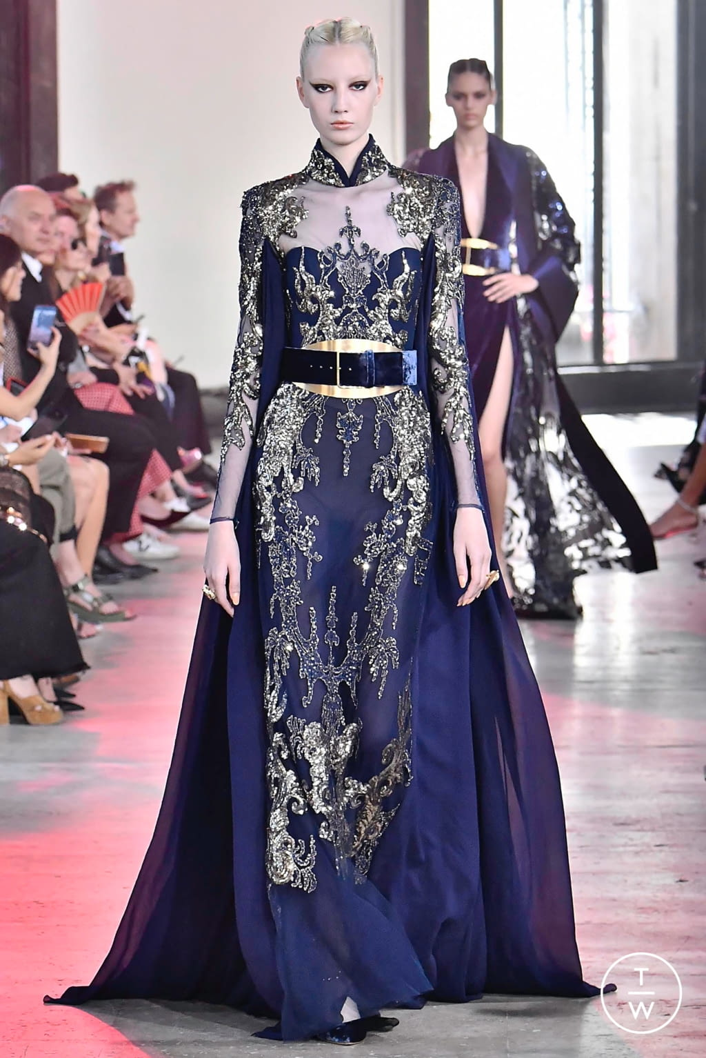 Fashion Week Paris Fall/Winter 2019 look 22 from the Elie Saab collection couture
