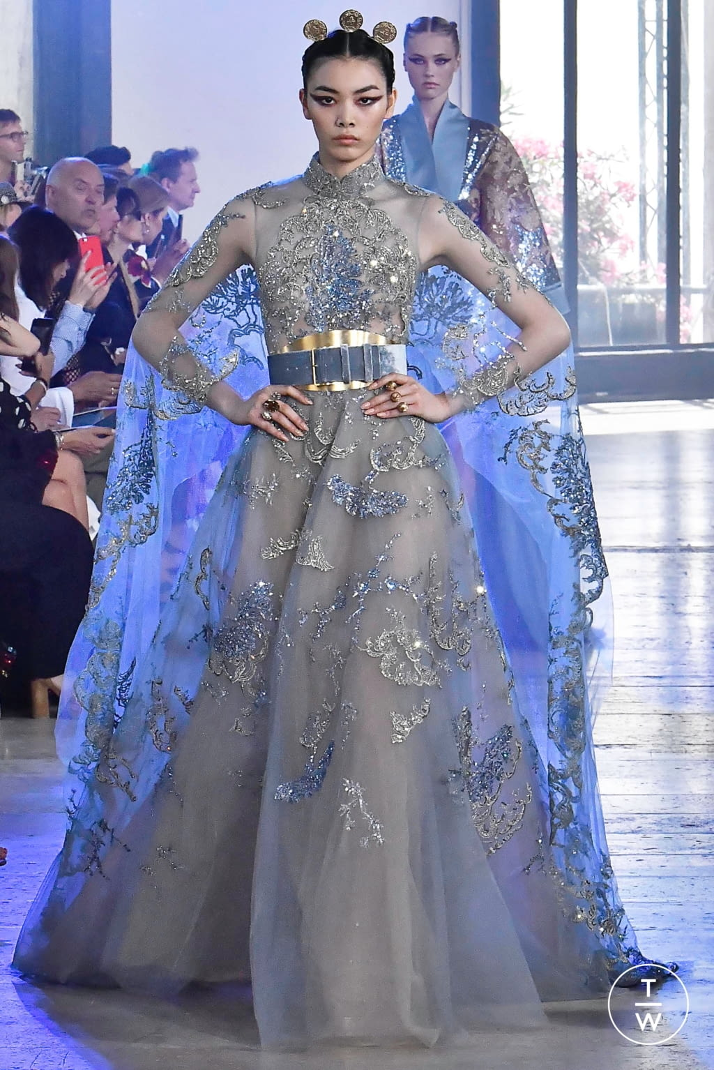 Fashion Week Paris Fall/Winter 2019 look 39 from the Elie Saab collection couture