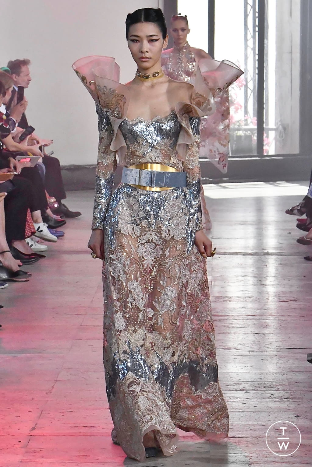 Fashion Week Paris Fall/Winter 2019 look 42 from the Elie Saab collection couture
