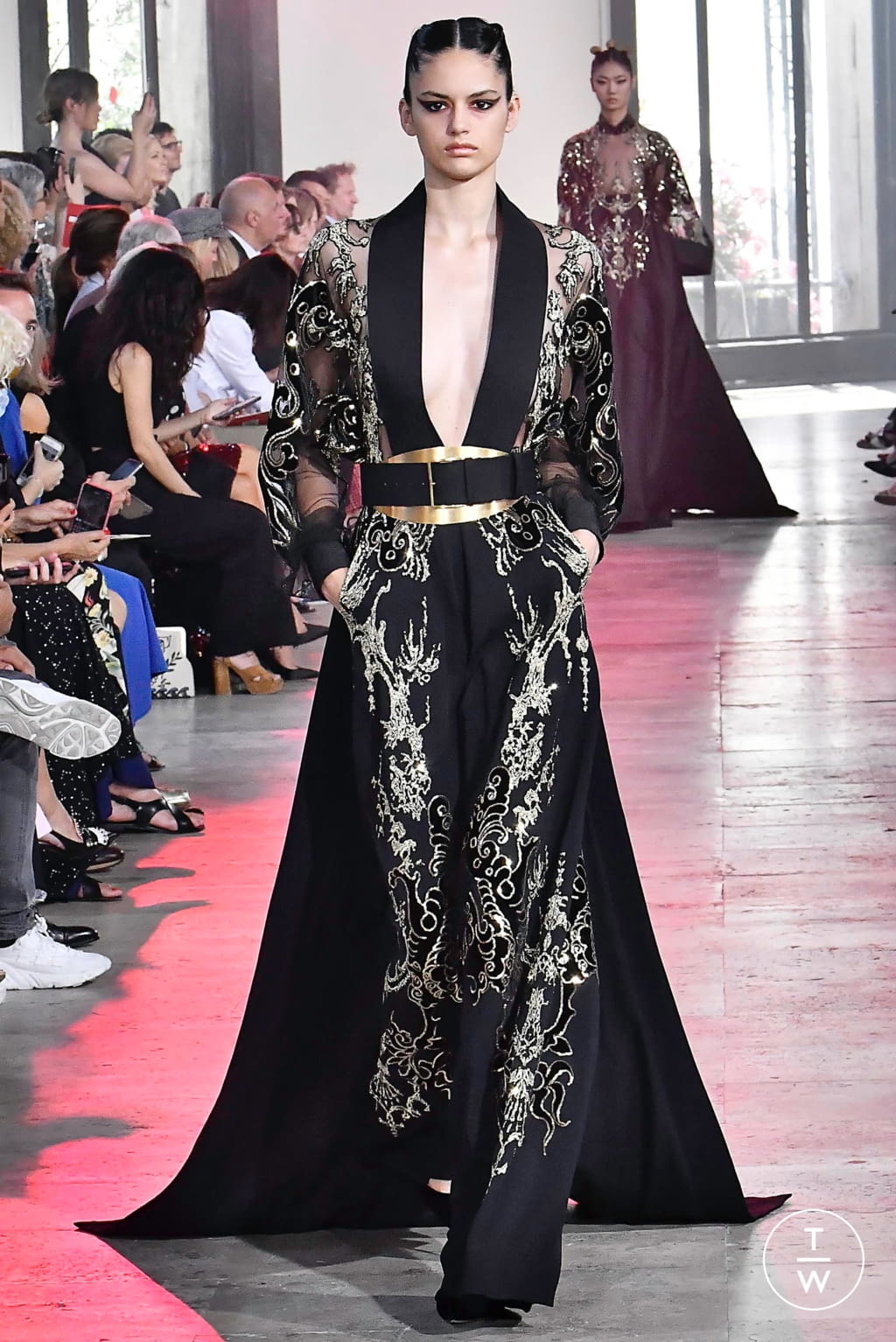 Fashion Week Paris Fall/Winter 2019 look 53 from the Elie Saab collection couture