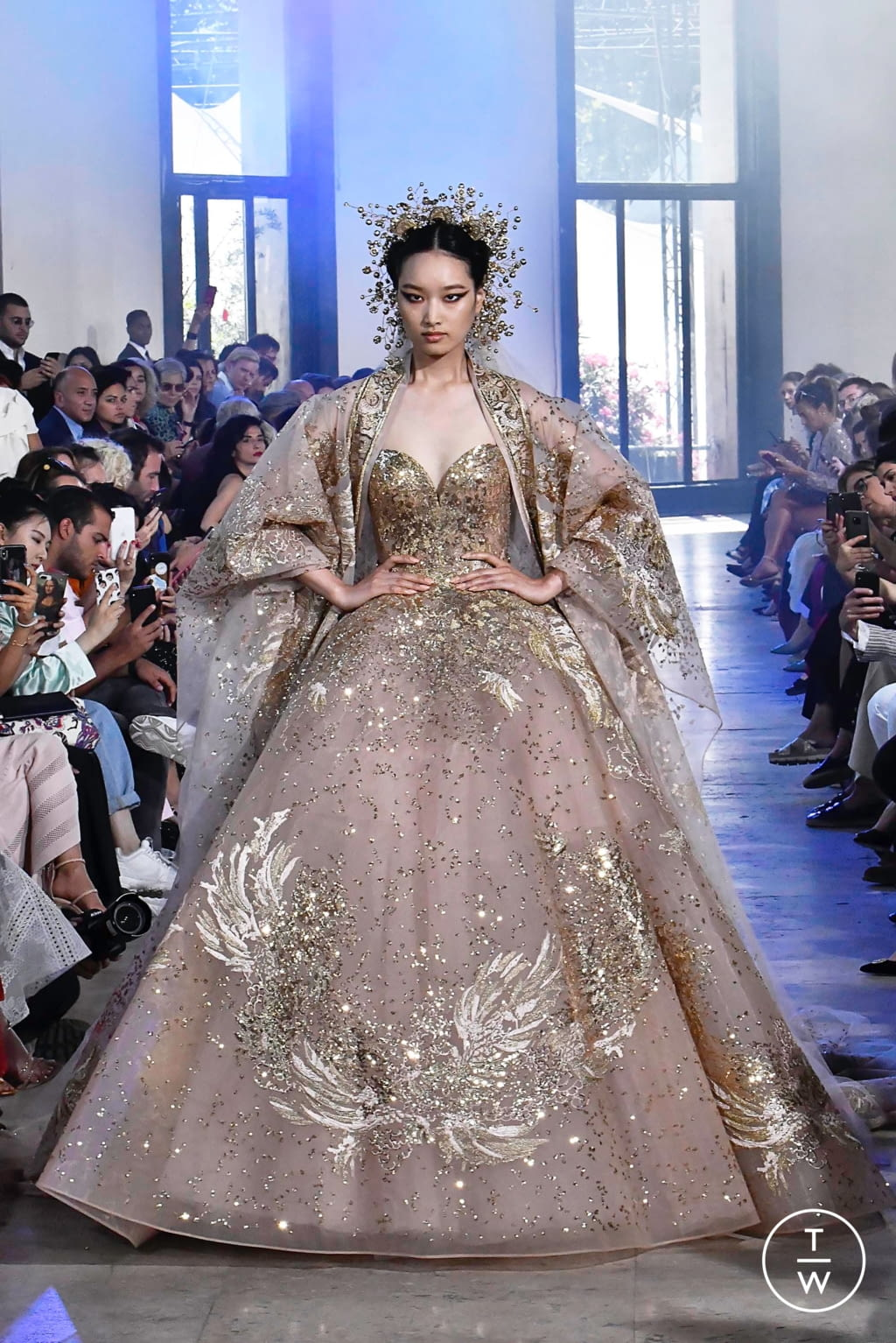 Fashion Week Paris Fall/Winter 2019 look 57 from the Elie Saab collection couture
