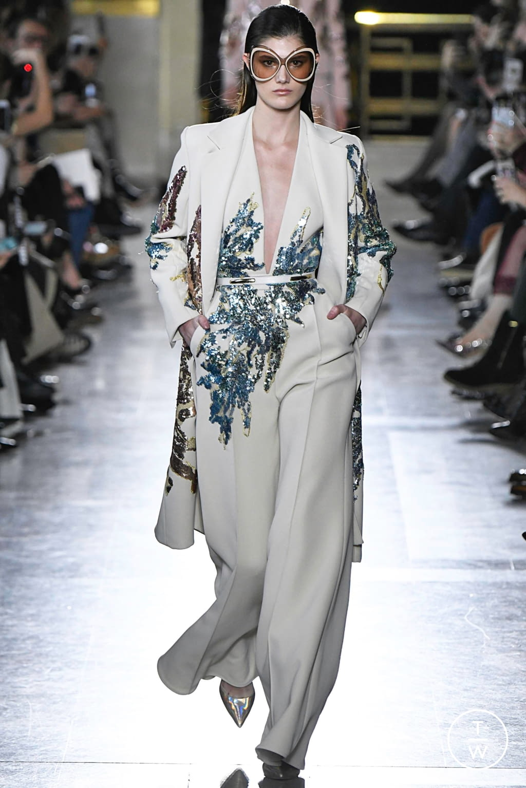 Fashion Week Paris Spring/Summer 2019 look 1 from the Elie Saab collection couture