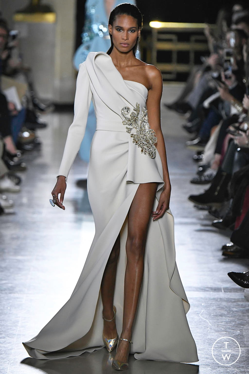Fashion Week Paris Spring/Summer 2019 look 4 from the Elie Saab collection 高级定制