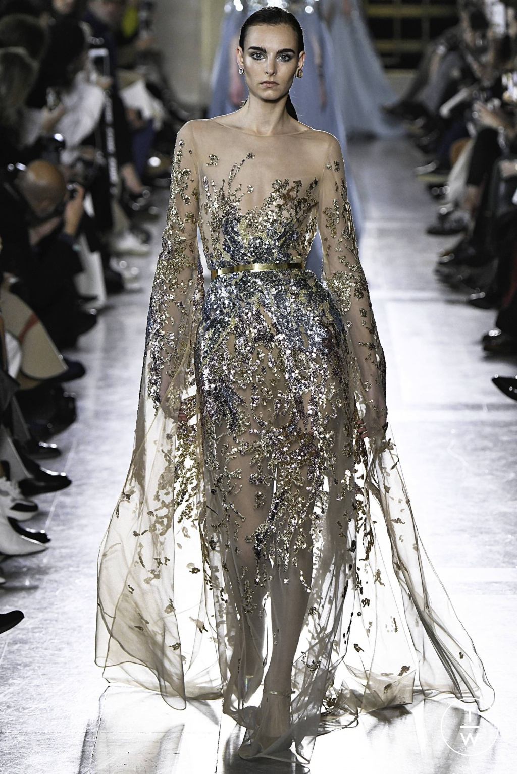 Fashion Week Paris Spring/Summer 2019 look 6 from the Elie Saab collection 高级定制