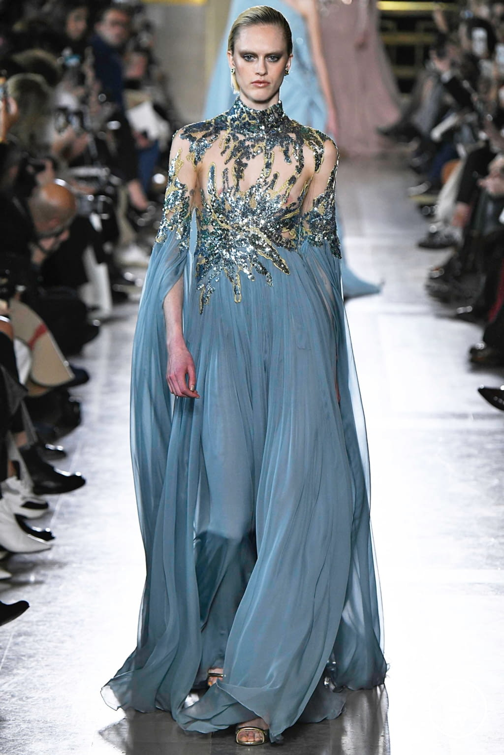 Fashion Week Paris Spring/Summer 2019 look 7 from the Elie Saab collection 高级定制