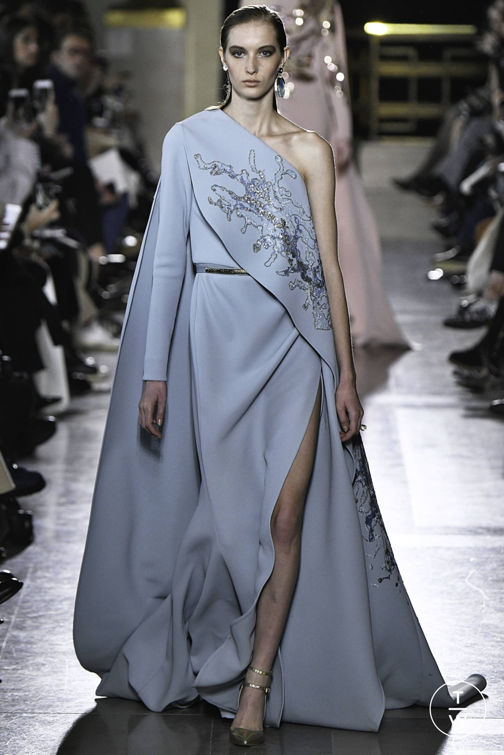 Fashion Week Paris Spring/Summer 2019 look 8 from the Elie Saab collection couture