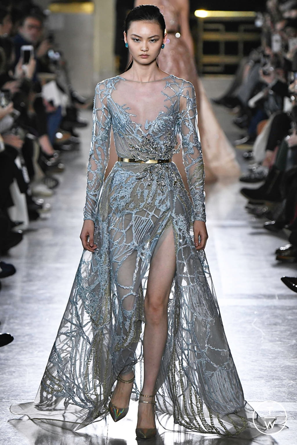 Fashion Week Paris Spring/Summer 2019 look 11 from the Elie Saab collection 高级定制
