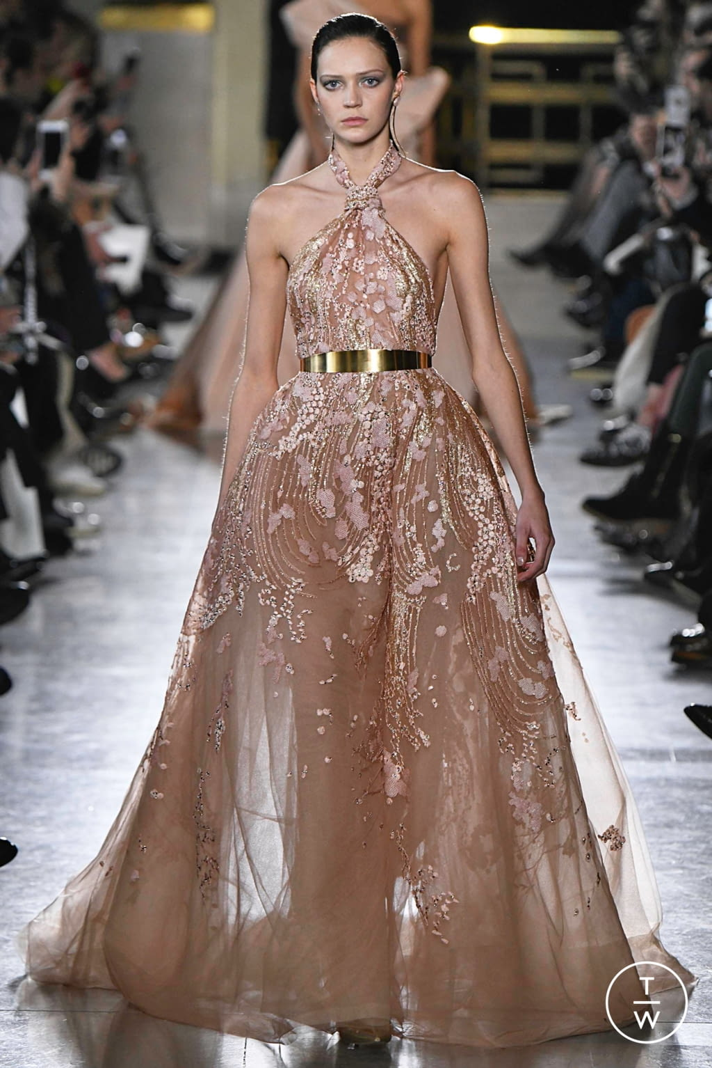 Fashion Week Paris Spring/Summer 2019 look 12 from the Elie Saab collection 高级定制