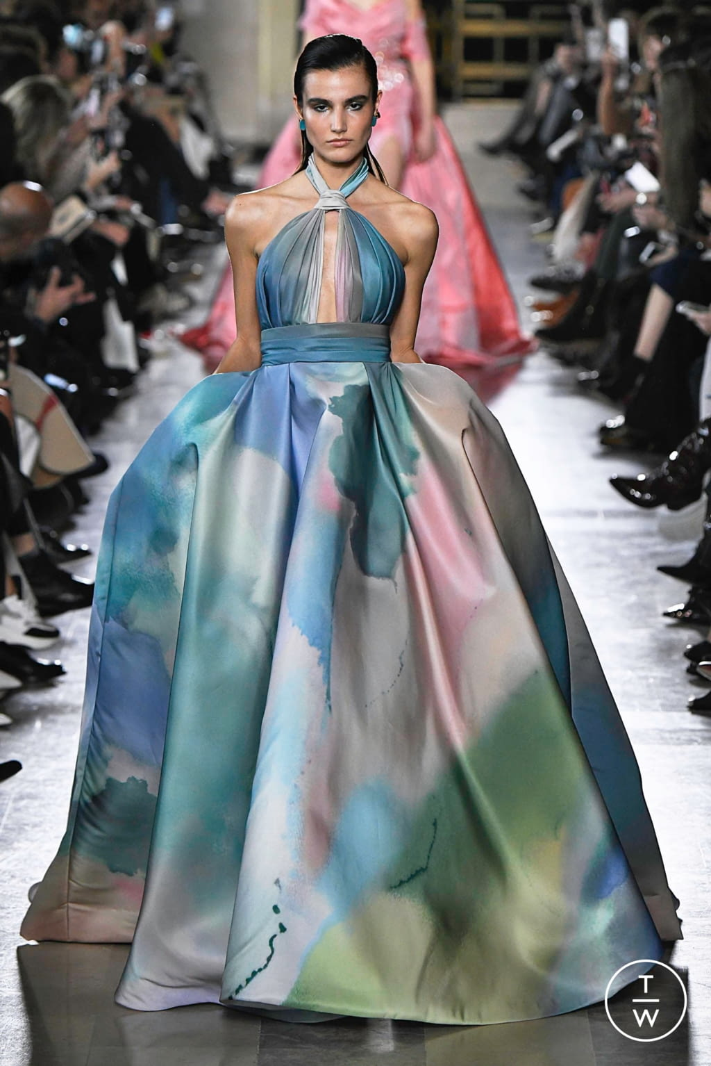 Fashion Week Paris Spring/Summer 2019 look 15 from the Elie Saab collection couture