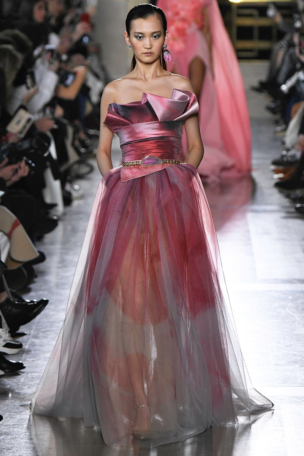 Fashion Week Paris Spring/Summer 2019 look 17 from the Elie Saab collection 高级定制