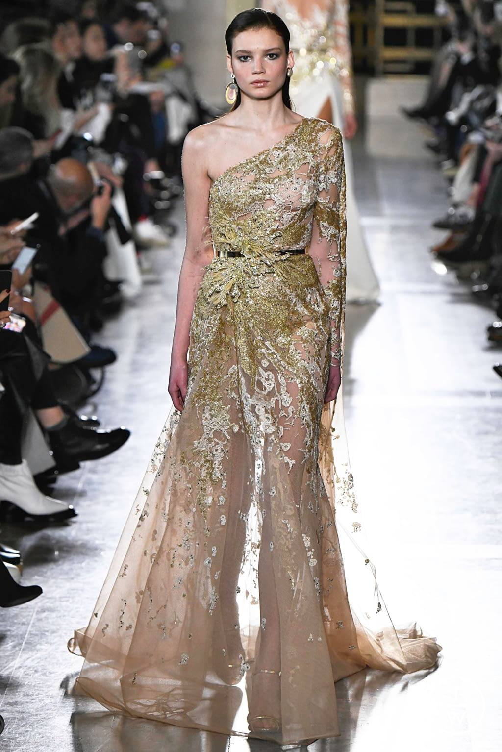 Fashion Week Paris Spring/Summer 2019 look 24 from the Elie Saab collection 高级定制