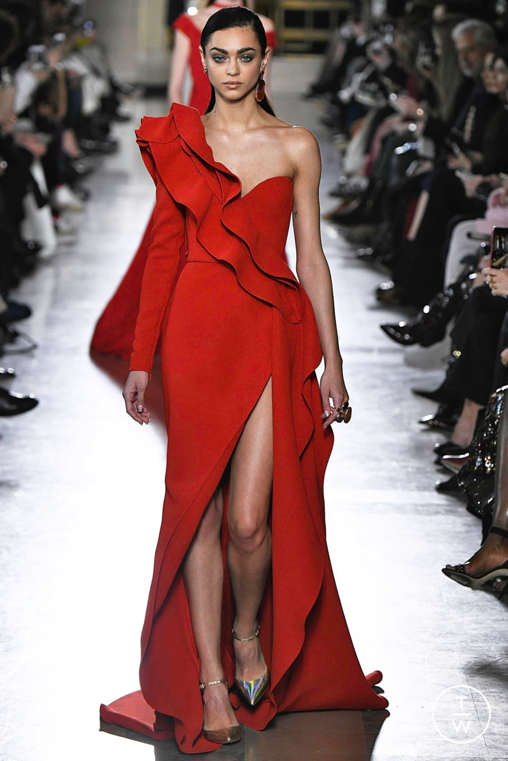 Fashion Week Paris Spring/Summer 2019 look 28 from the Elie Saab collection 高级定制