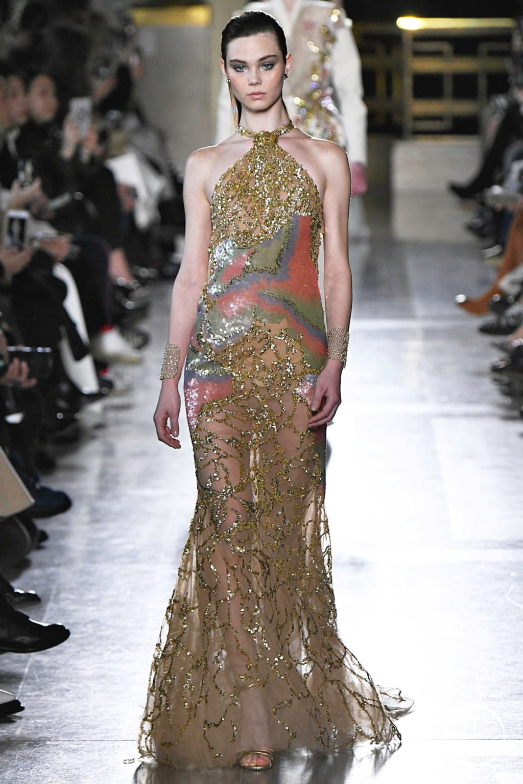 Fashion Week Paris Spring/Summer 2019 look 33 from the Elie Saab collection 高级定制
