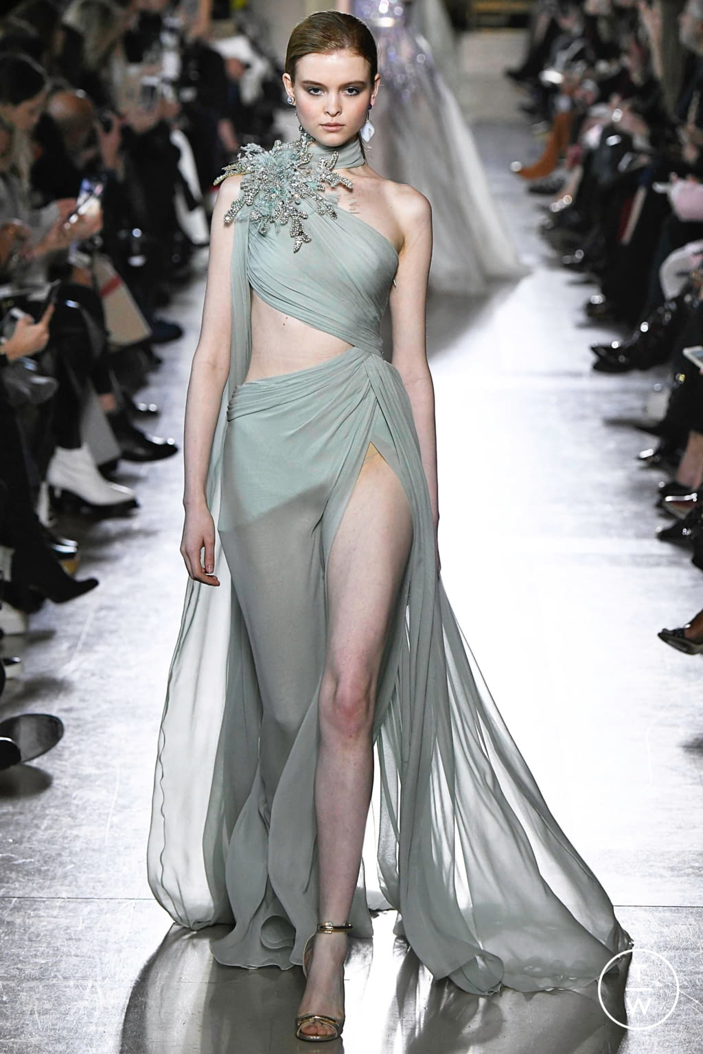 Fashion Week Paris Spring/Summer 2019 look 35 from the Elie Saab collection 高级定制