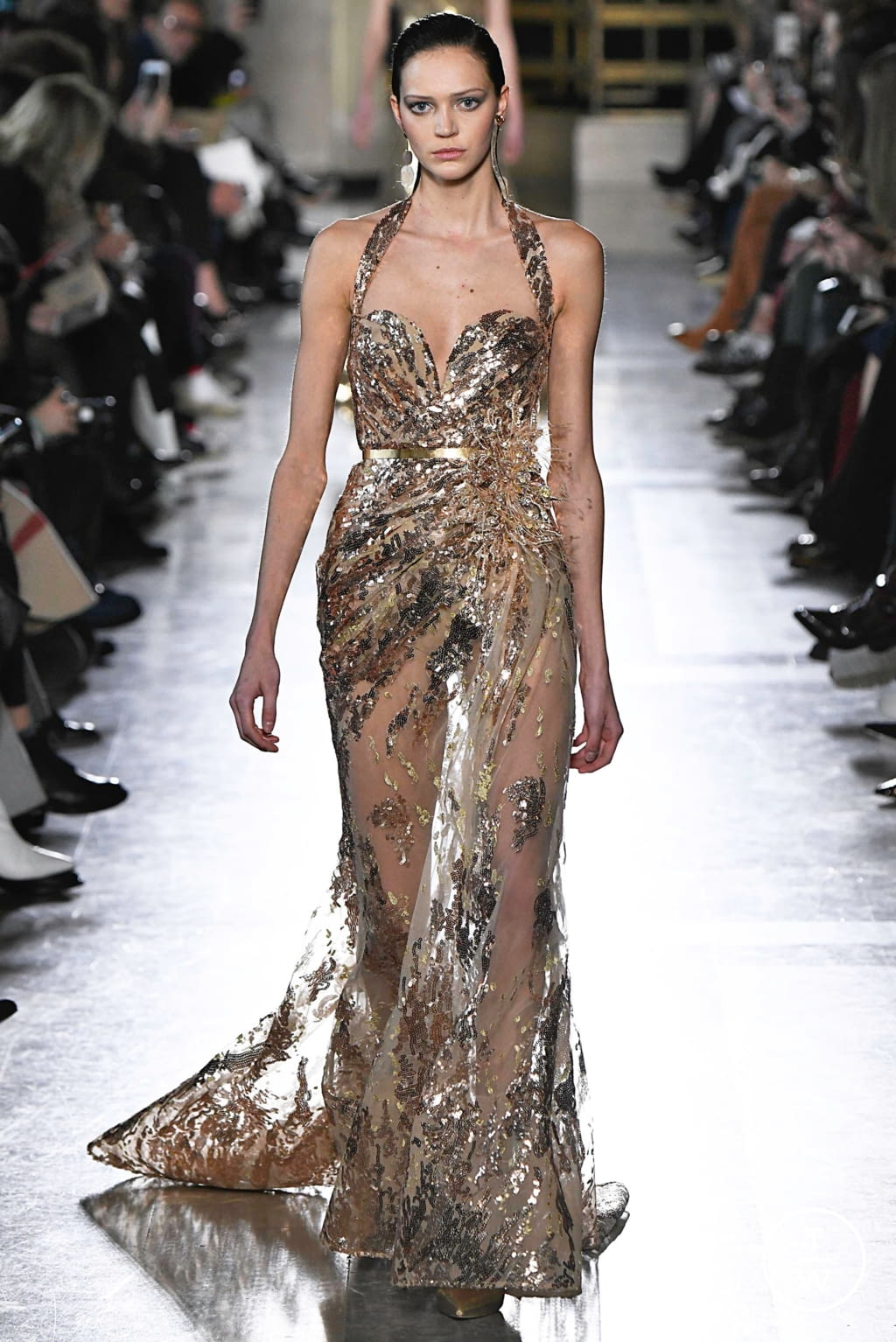 Fashion Week Paris Spring/Summer 2019 look 39 from the Elie Saab collection 高级定制
