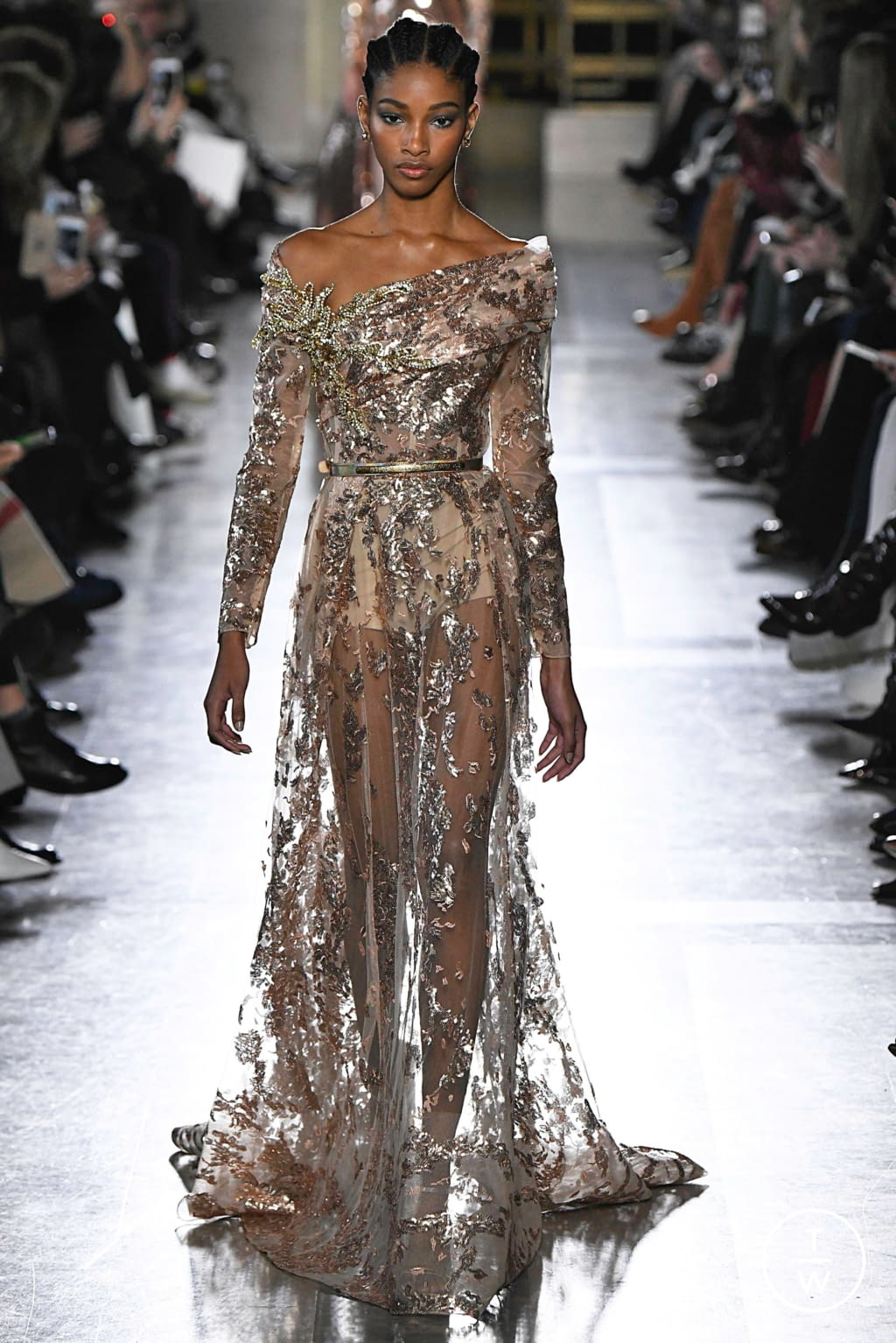 Fashion Week Paris Spring/Summer 2019 look 42 from the Elie Saab collection 高级定制