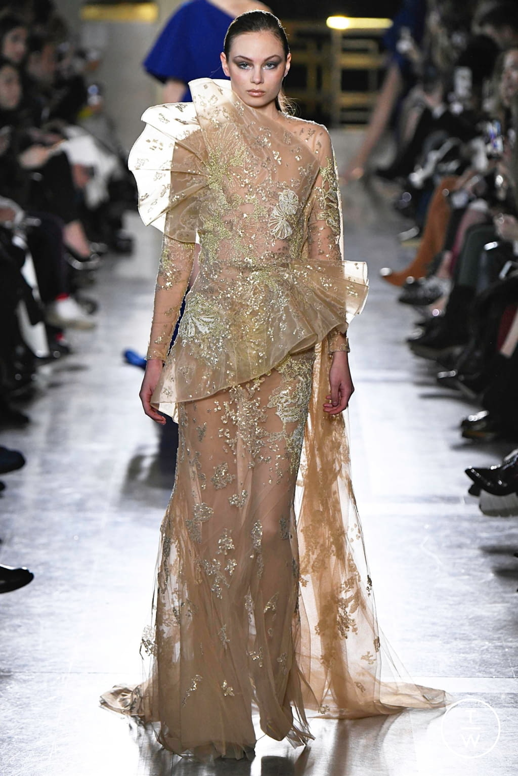 Fashion Week Paris Spring/Summer 2019 look 46 from the Elie Saab collection 高级定制