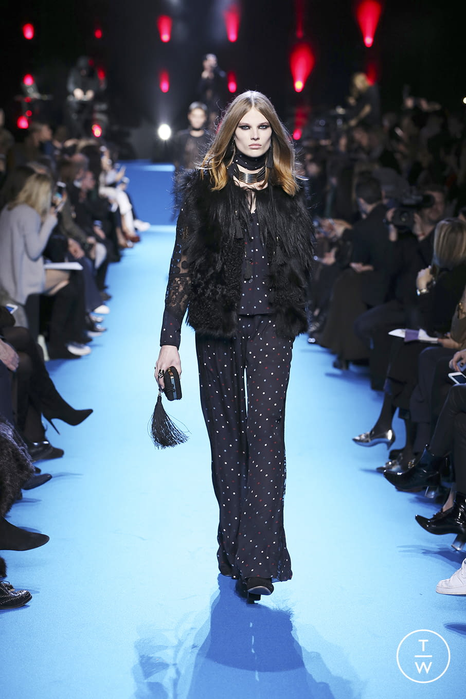 Fashion Week Paris Fall/Winter 2016 look 40 from the Elie Saab collection 女装