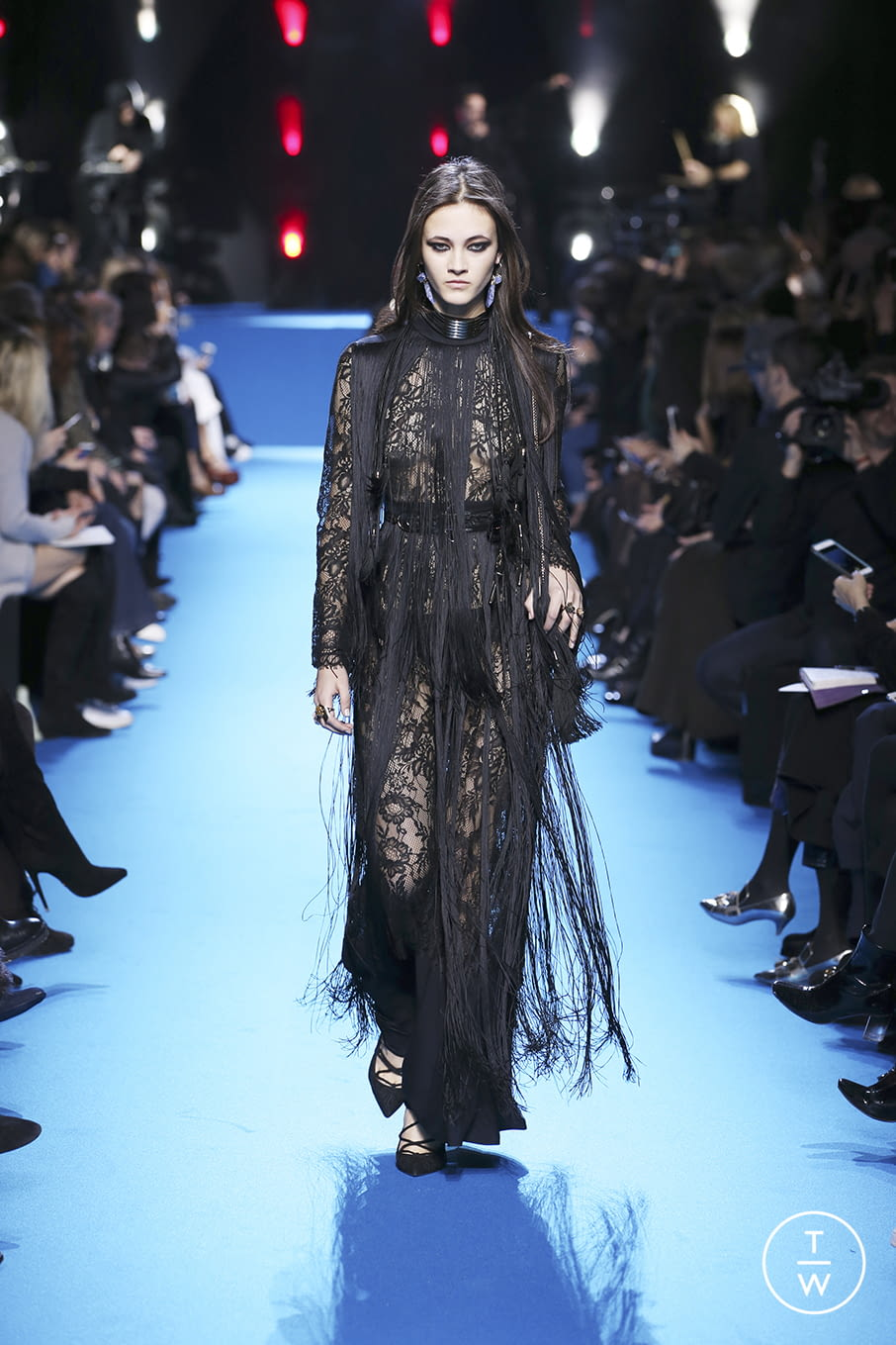 Fashion Week Paris Fall/Winter 2016 look 45 from the Elie Saab collection 女装