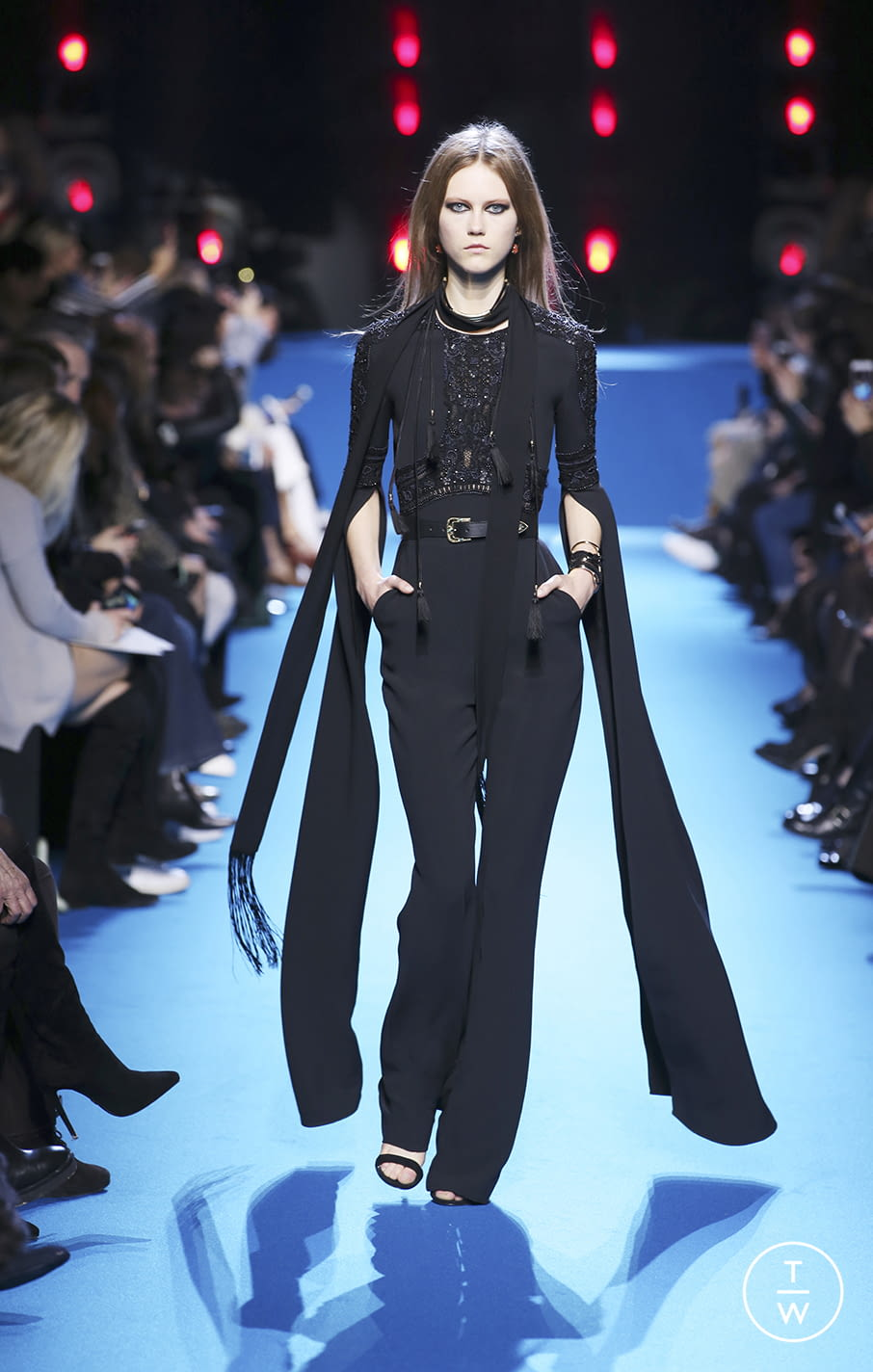 Fashion Week Paris Fall/Winter 2016 look 50 from the Elie Saab collection 女装