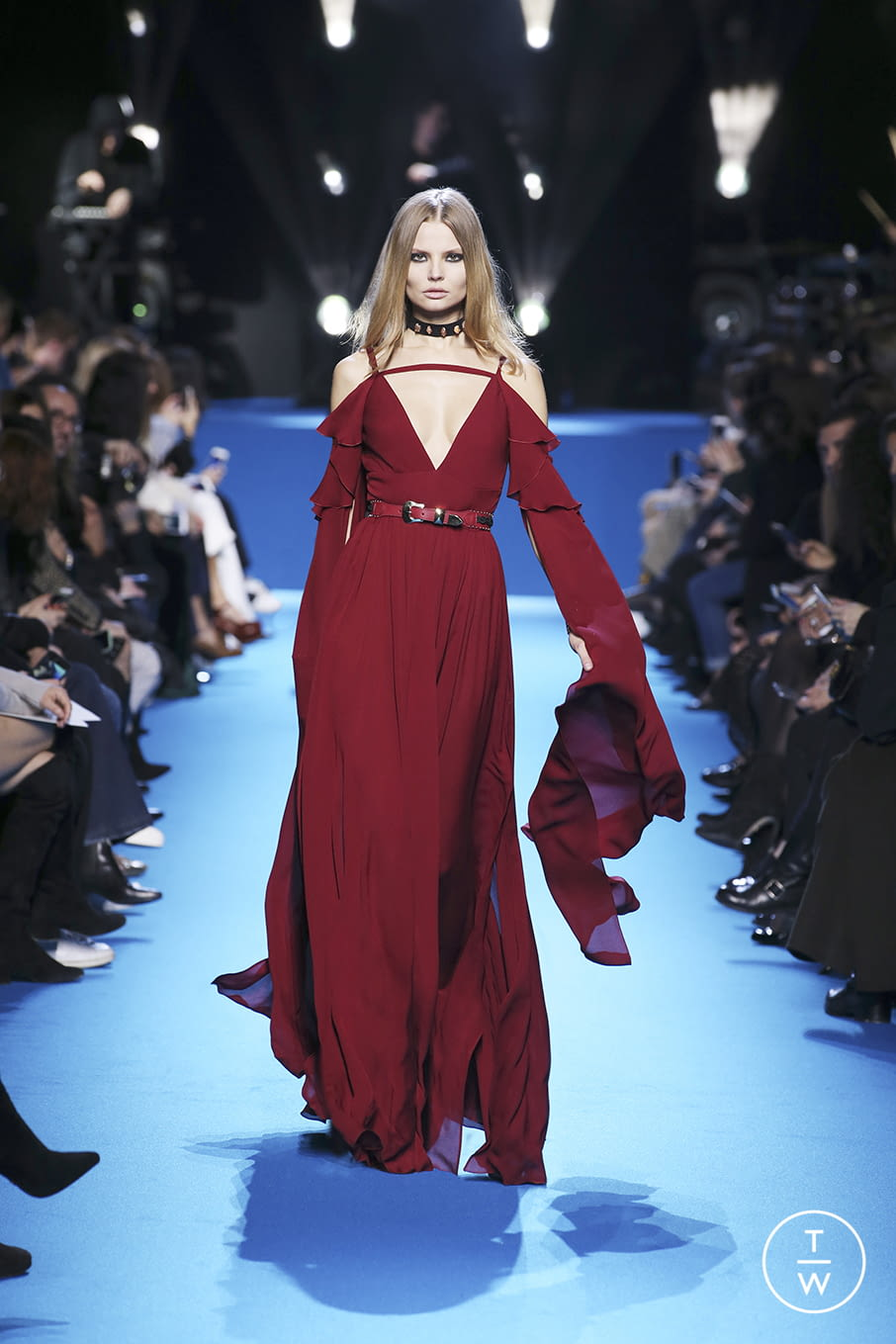 Fashion Week Paris Fall/Winter 2016 look 51 from the Elie Saab collection 女装