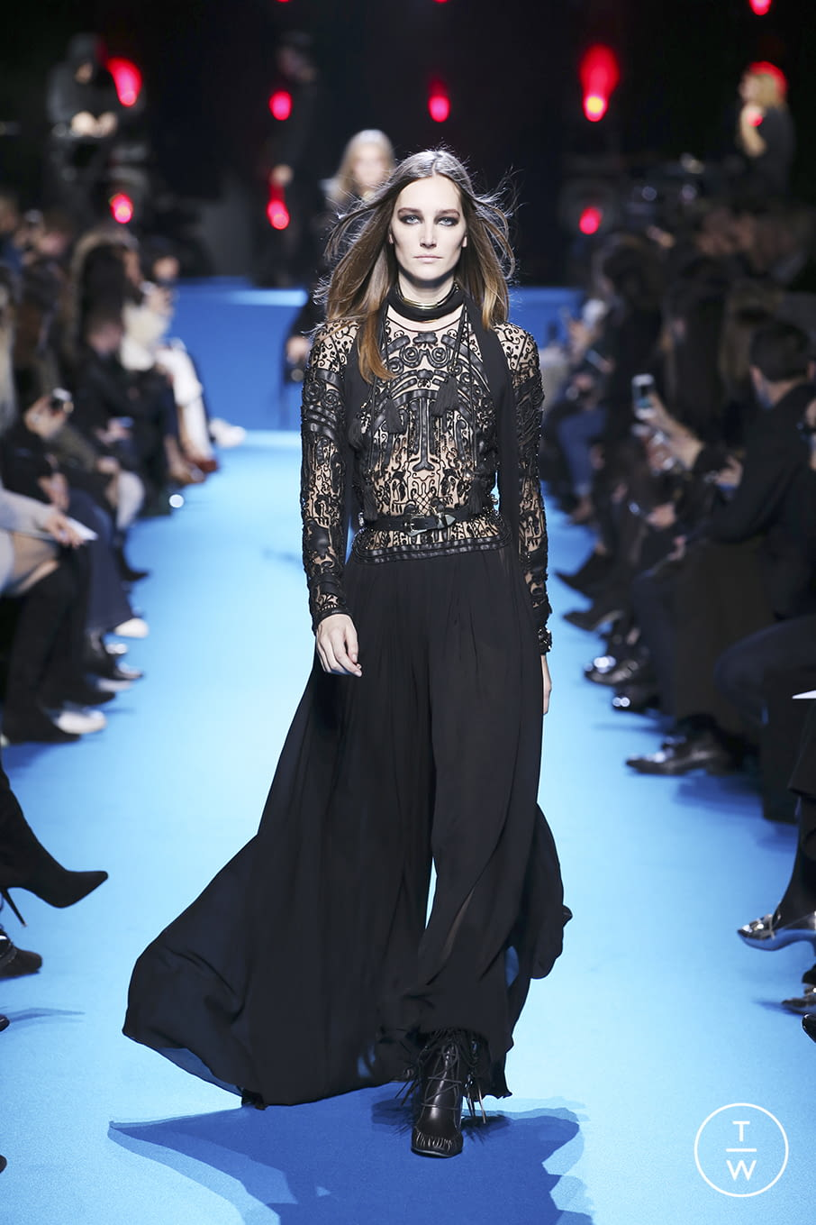 Fashion Week Paris Fall/Winter 2016 look 53 from the Elie Saab collection 女装