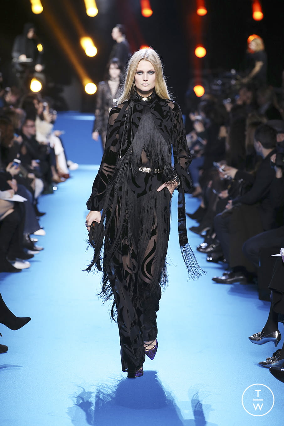 Fashion Week Paris Fall/Winter 2016 look 54 from the Elie Saab collection 女装