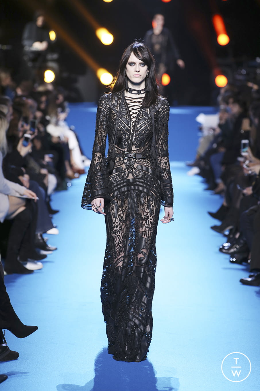 Fashion Week Paris Fall/Winter 2016 look 55 from the Elie Saab collection 女装