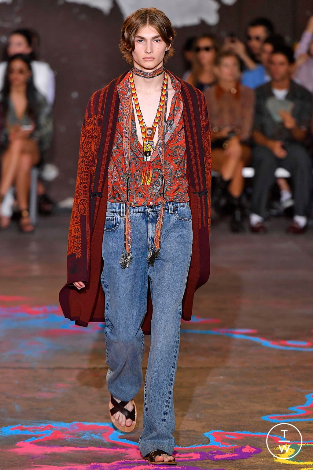 Fashion Week Milan Spring/Summer 2020 look 13 from the Etro collection 男装