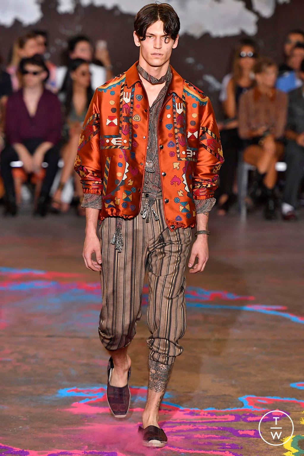 Fashion Week Milan Spring/Summer 2020 look 15 from the Etro collection 男装
