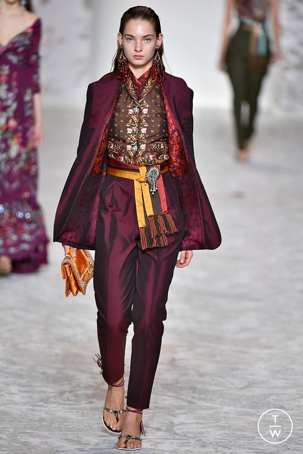 Fashion Week Milan Spring/Summer 2018 look 55 from the Etro collection 女装
