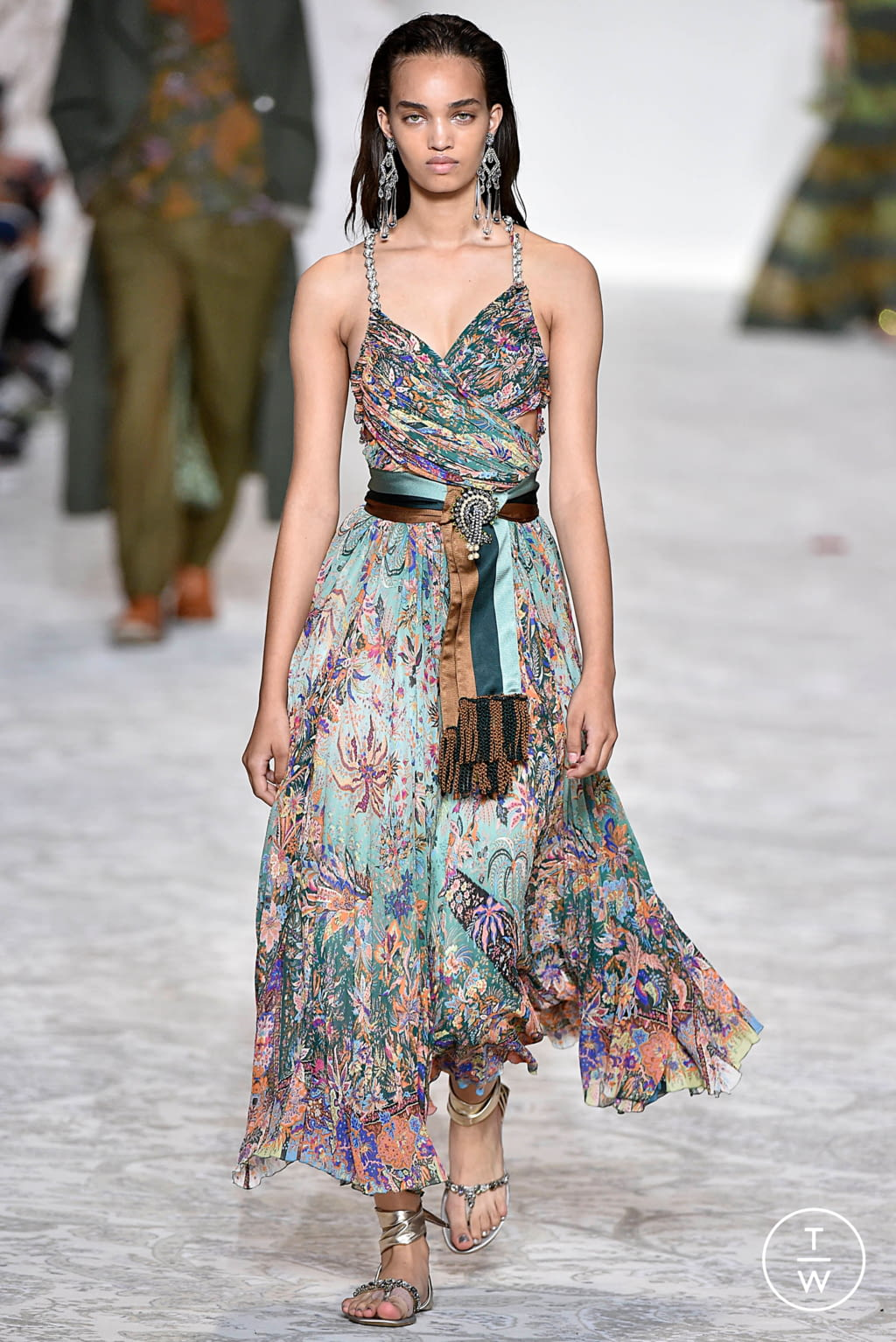 Fashion Week Milan Spring/Summer 2018 look 58 from the Etro collection womenswear