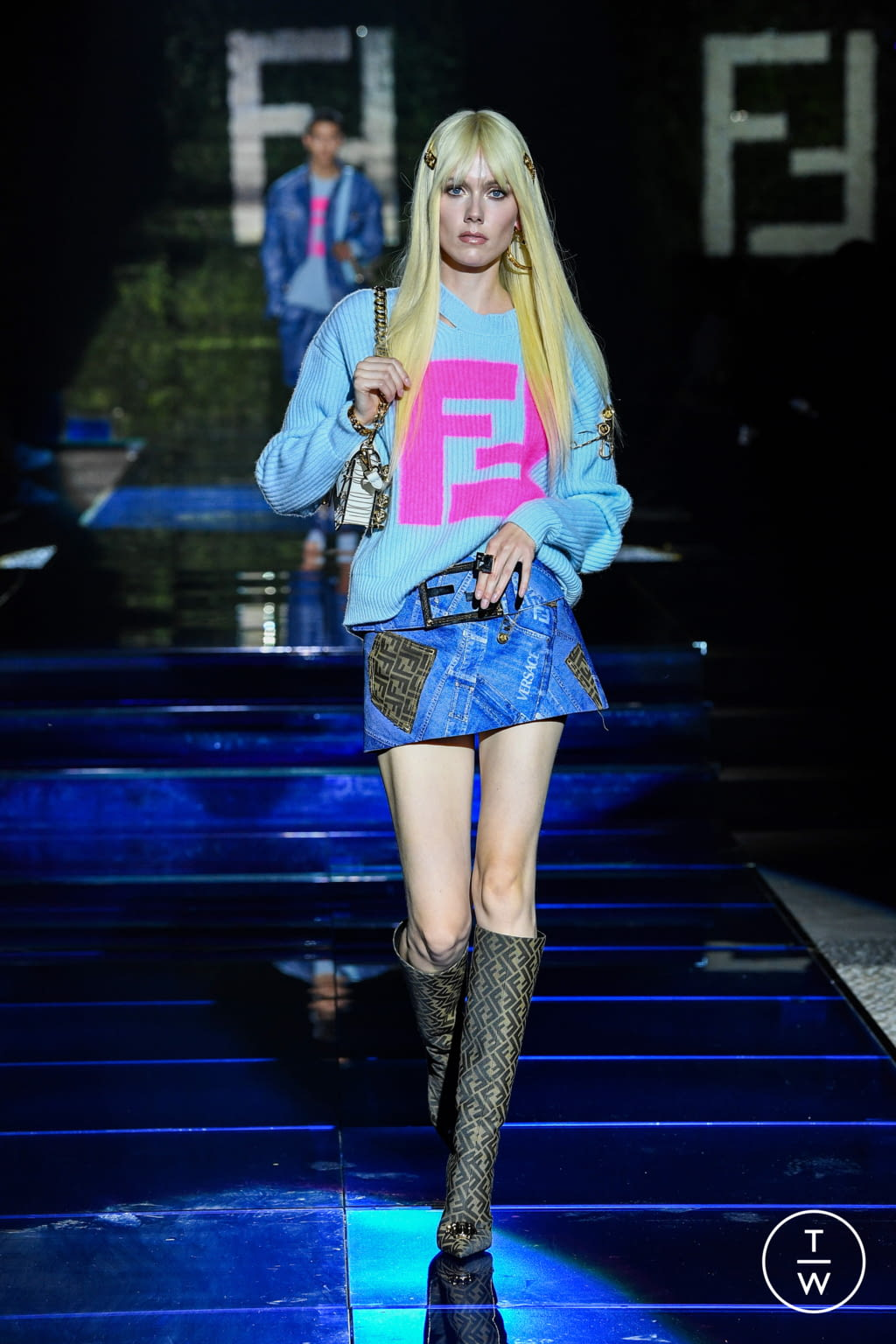 Fashion Week Milan Spring/Summer 2022 look 34 from the Versace by Fendi - Fendi by Versace collection womenswear