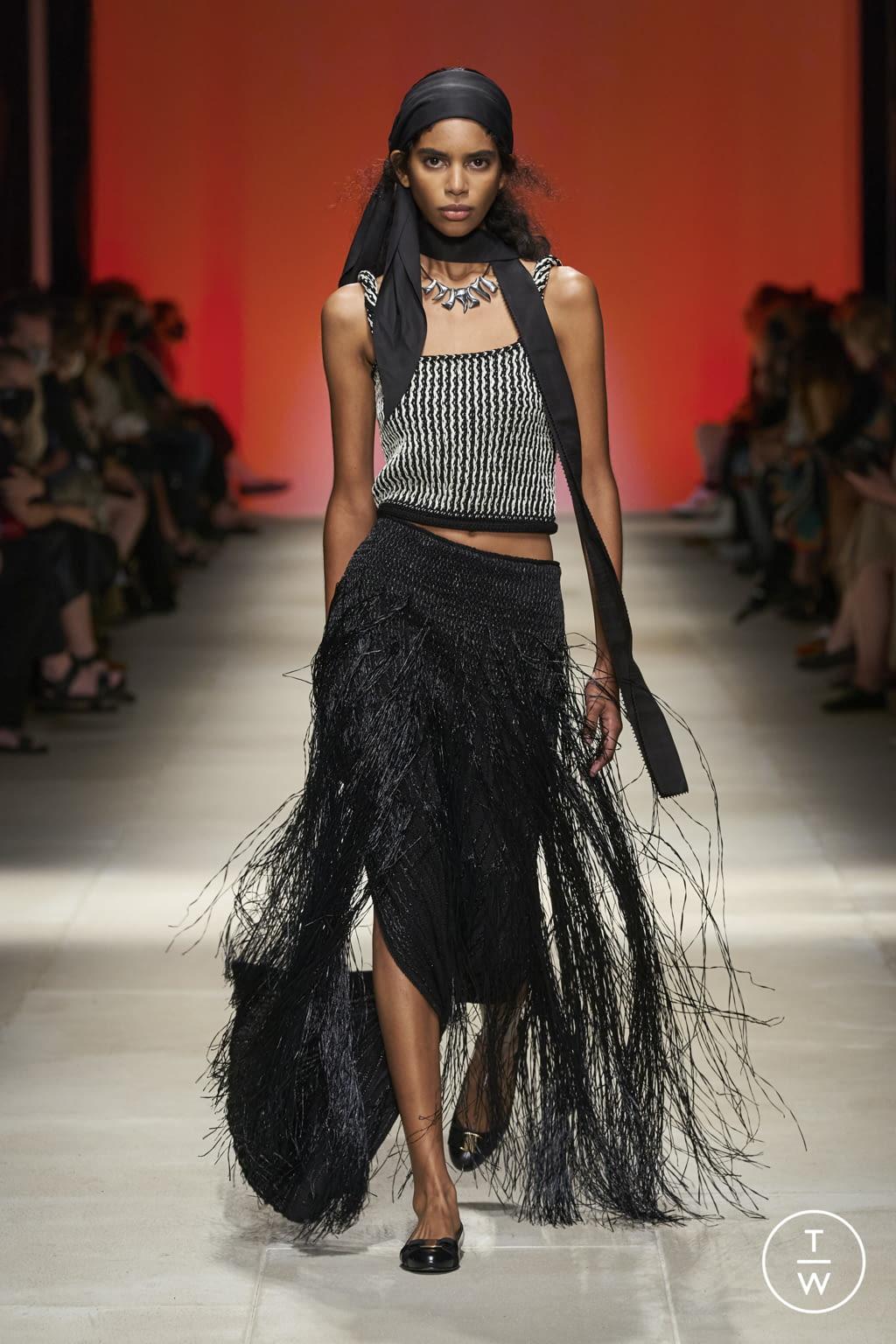 Fashion Week Milan Spring/Summer 2022 look 46 from the Salvatore Ferragamo collection womenswear