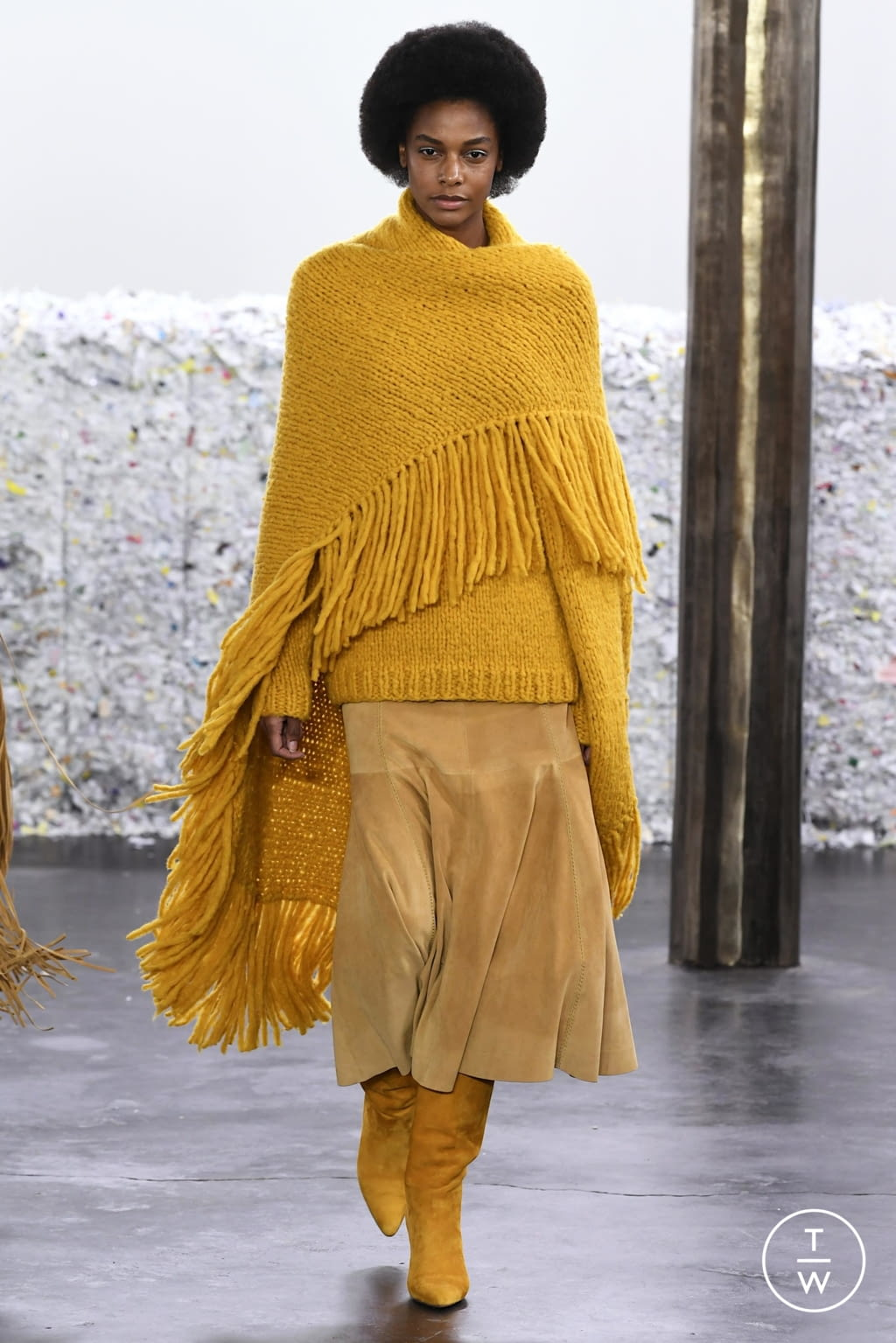 Fashion Week New York Fall/Winter 2020 look 8 from the Gabriela Hearst collection 女装