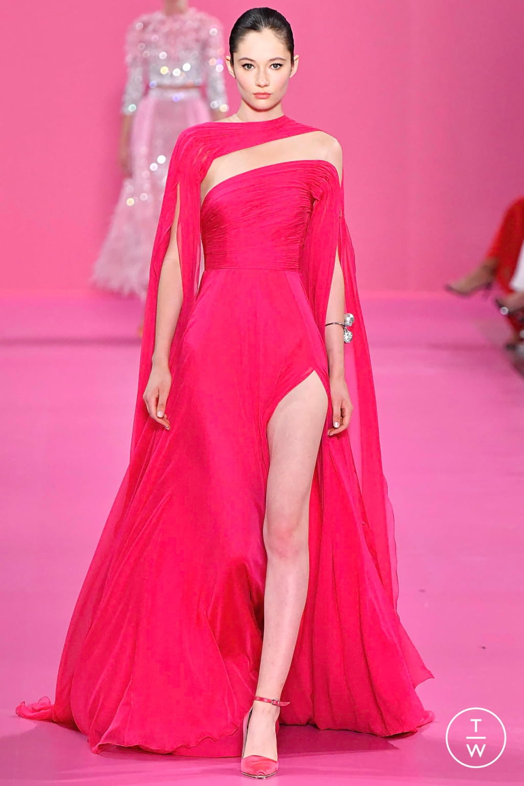 Fashion Week Paris Fall/Winter 2019 look 12 from the Georges Hobeika collection couture