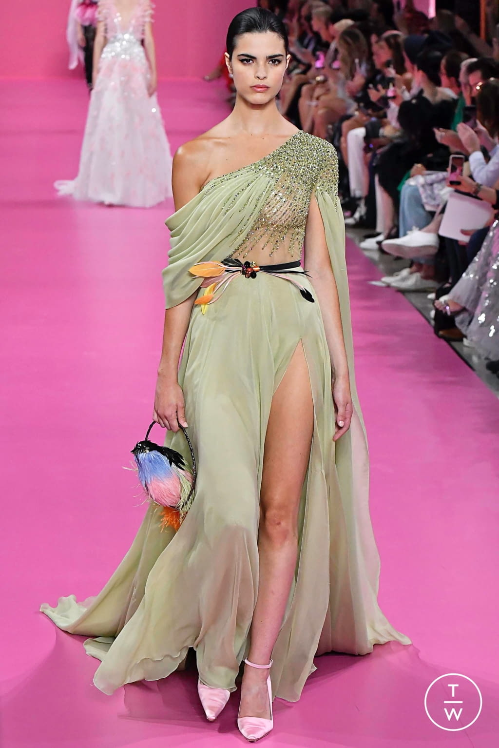 Fashion Week Paris Fall/Winter 2019 look 22 from the Georges Hobeika collection couture