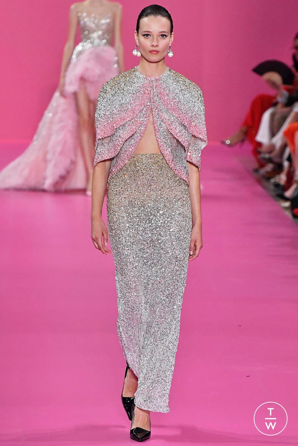 Fashion Week Paris Fall/Winter 2019 look 30 from the Georges Hobeika collection couture