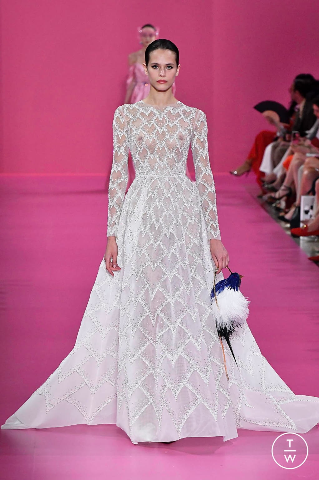Fashion Week Paris Fall/Winter 2019 look 33 from the Georges Hobeika collection couture