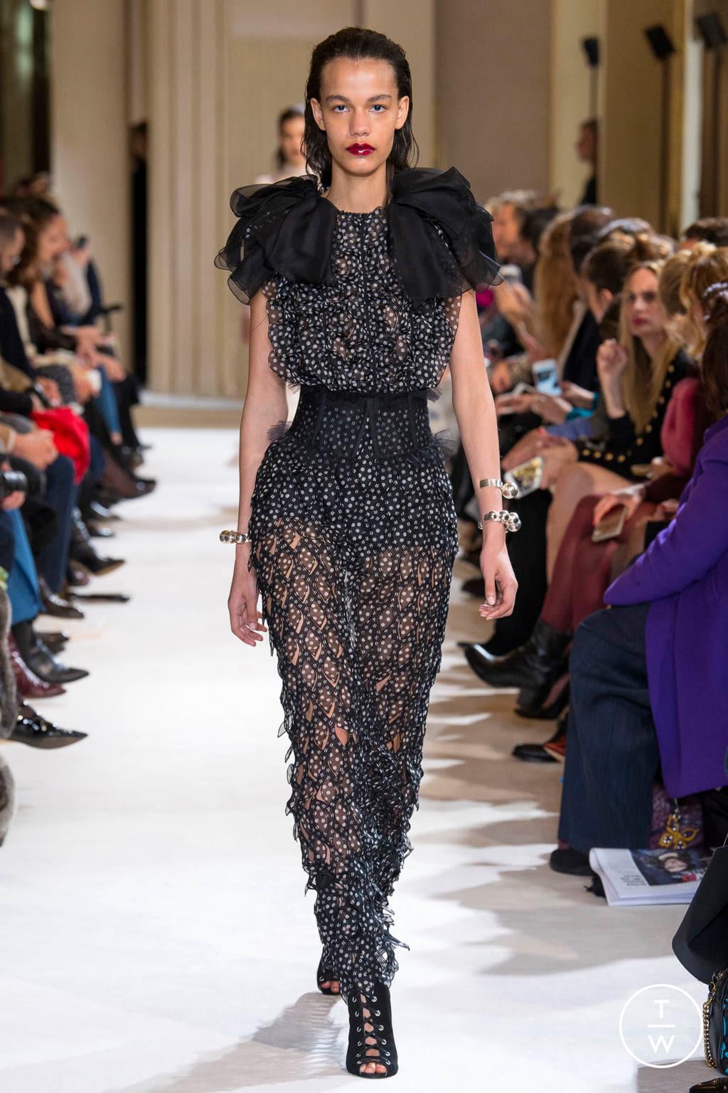 Fashion Week Paris Fall/Winter 2017 look 40 from the Giambattista Valli collection womenswear