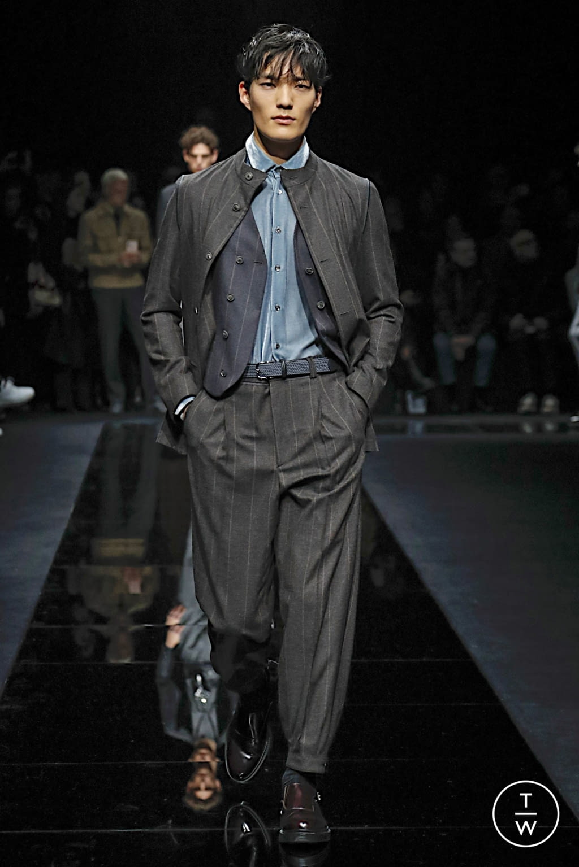 Fashion Week Milan Fall/Winter 2020 look 42 from the Giorgio Armani collection menswear