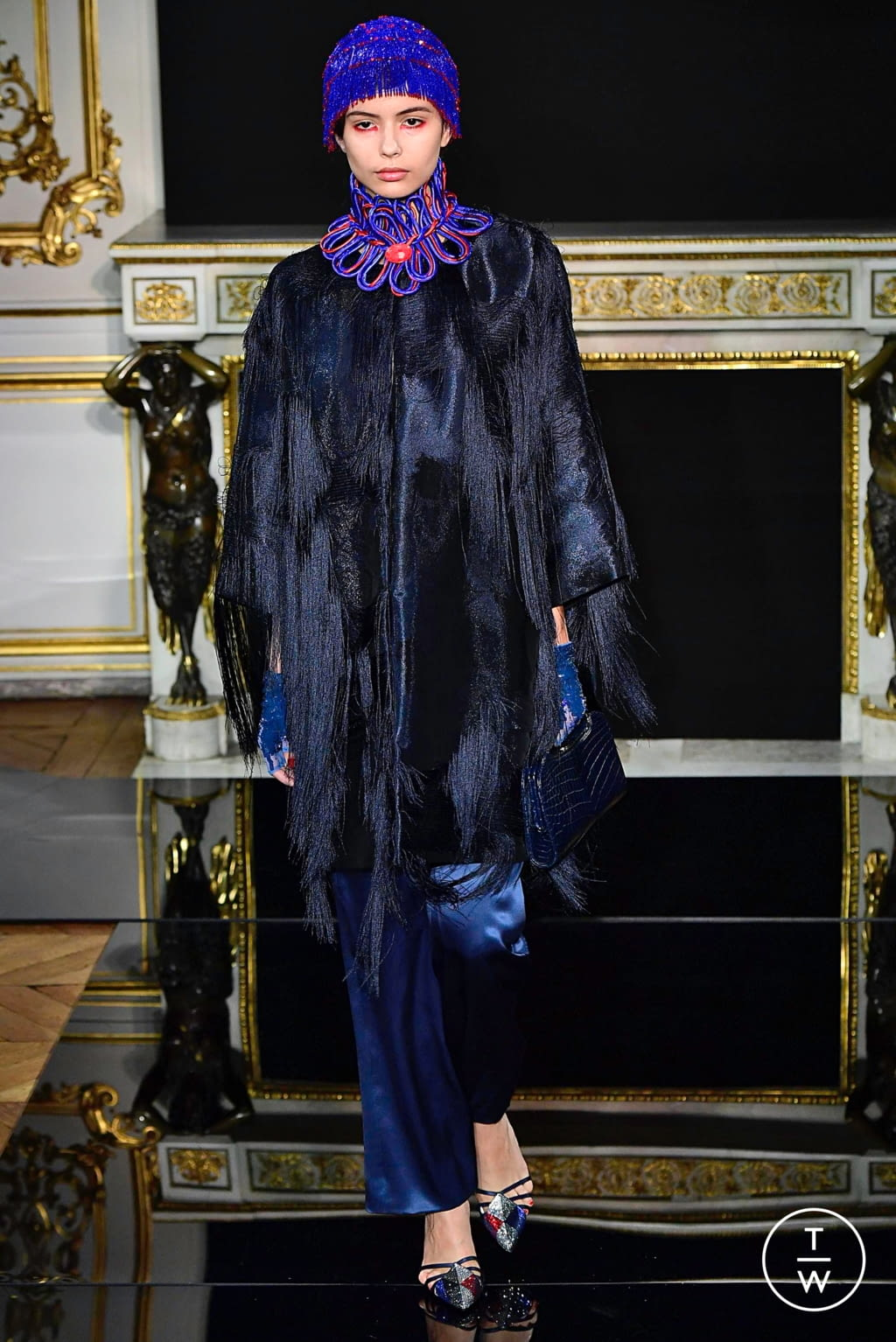 Fashion Week Paris Spring/Summer 2019 look 23 from the Giorgio Armani Privé collection couture
