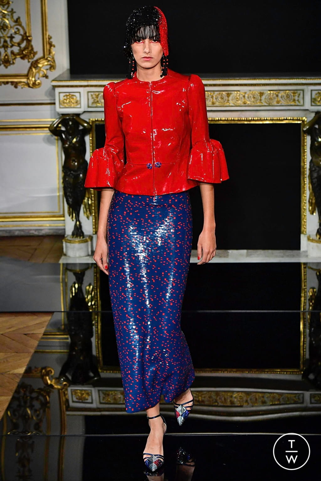 Fashion Week Paris Spring/Summer 2019 look 35 from the Giorgio Armani Privé collection couture