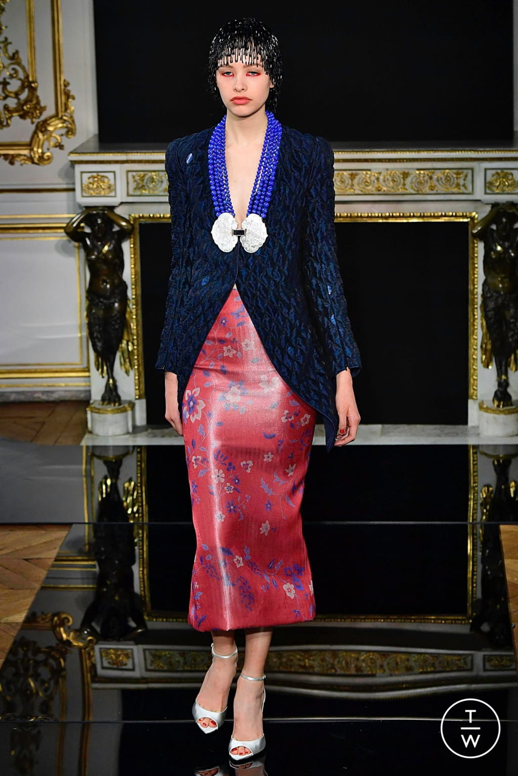 Fashion Week Paris Spring/Summer 2019 look 37 from the Giorgio Armani Privé collection couture