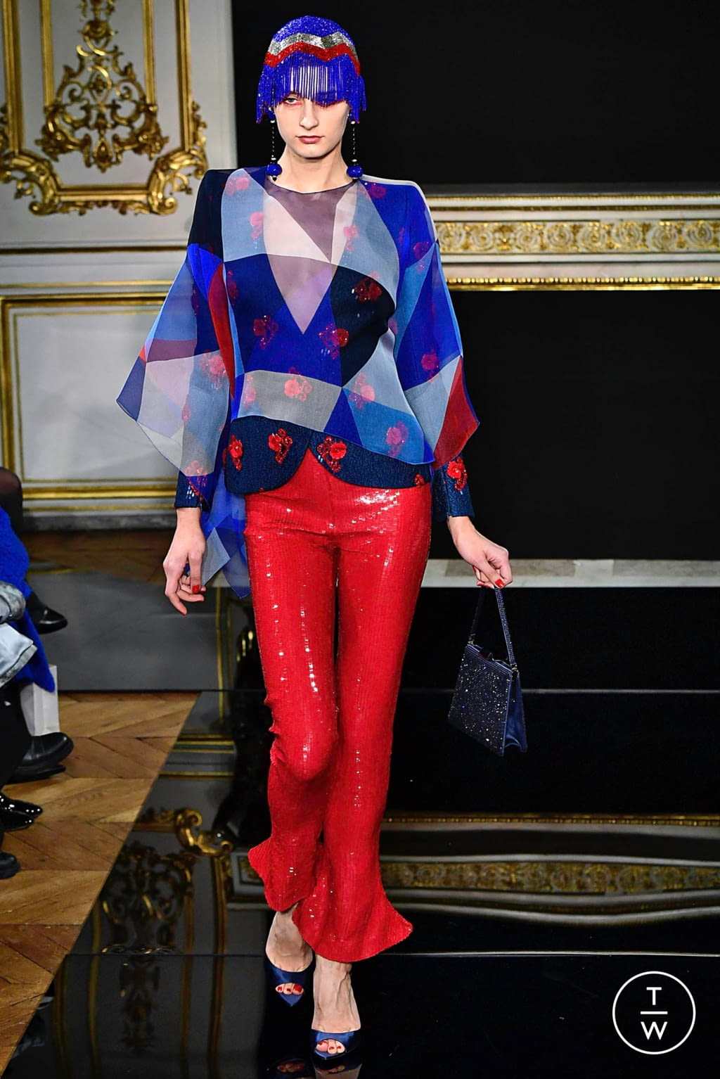 Fashion Week Paris Spring/Summer 2019 look 39 from the Giorgio Armani Privé collection 高级定制