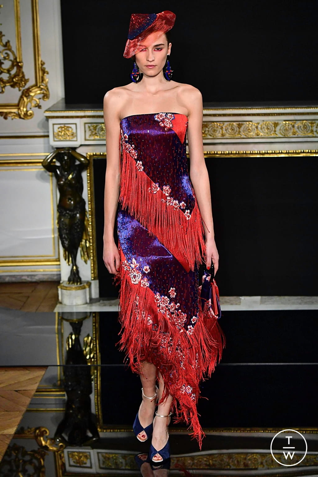 Fashion Week Paris Spring/Summer 2019 look 48 from the Giorgio Armani Privé collection 高级定制