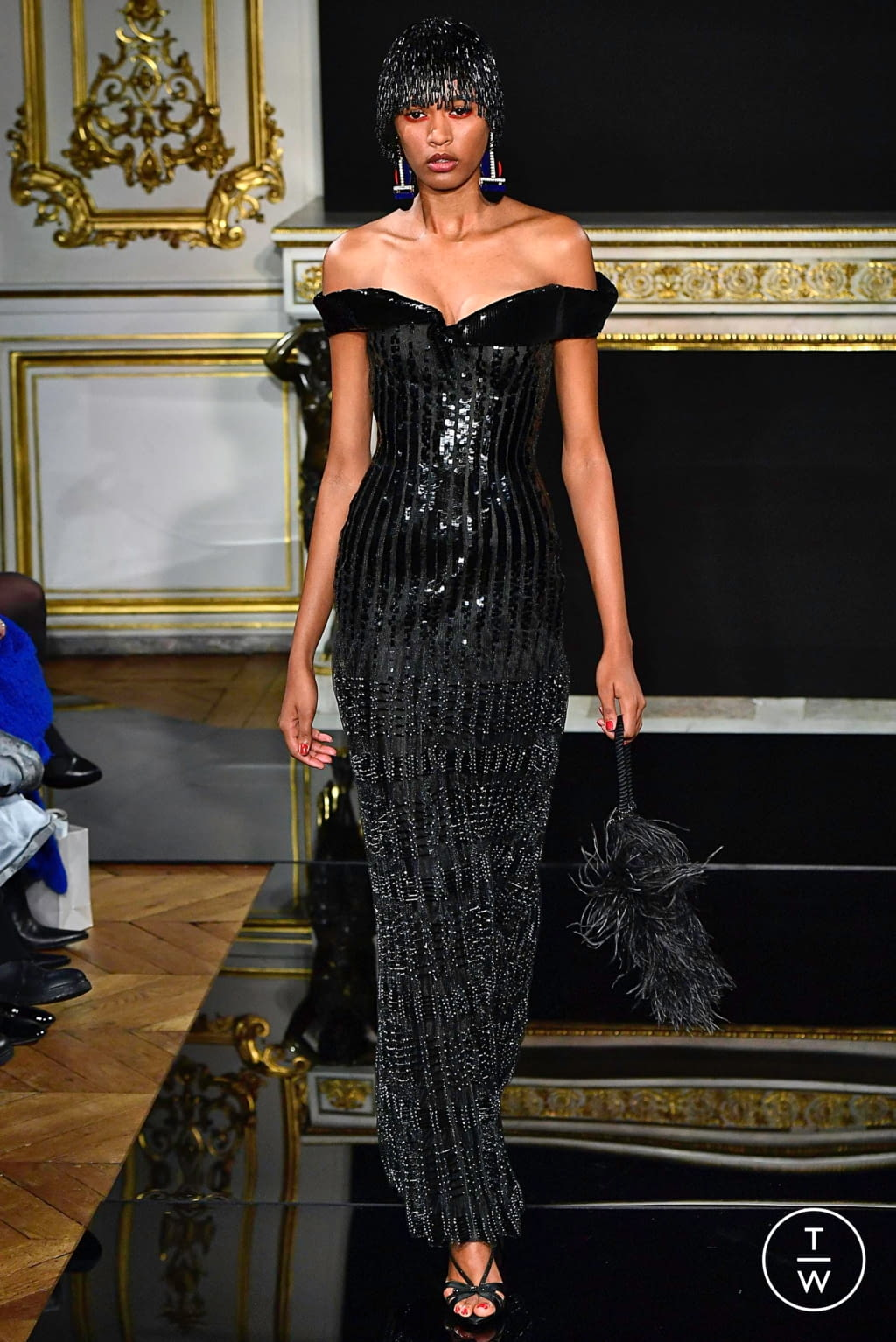 Fashion Week Paris Spring/Summer 2019 look 76 from the Giorgio Armani Privé collection couture